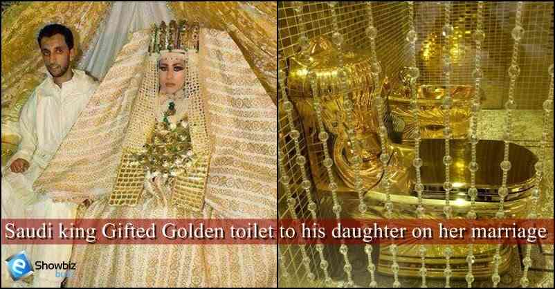 toilet made of gold. A Saudi King Gifts Toilet Made Of Gold To Her Daughter On Marriage