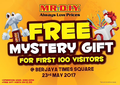 MR DIY Free Mystery Gift Berjaya Times Square Soft Opening Day Promo