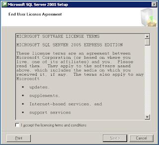 Installasi SQL Server 2005 Express