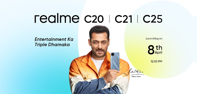 Realme launching three more smartphones on 8th April including Realme C20, C21, and Realme C25 - Features and Specifications | TechNeg
