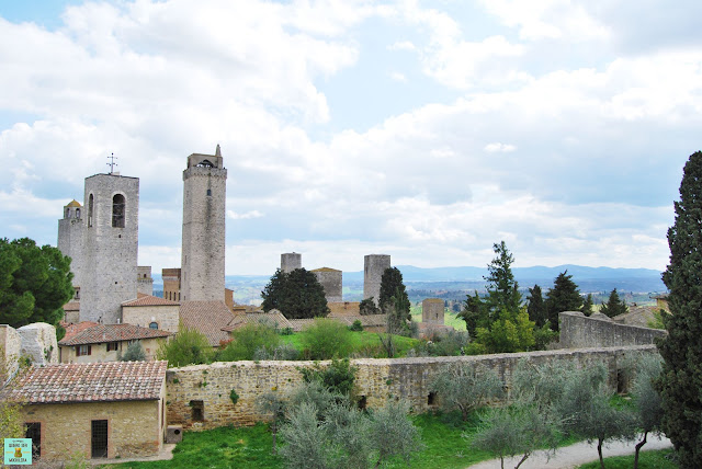 Vistas desde la Fortaleza de Montestaffoli, San Gimignano