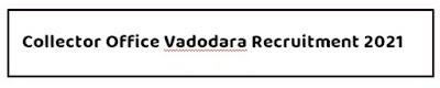 Collector Office Vadodara Recruitment 2021 For Nodal Officer Vacancy