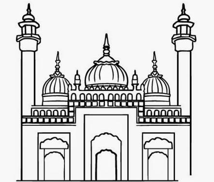 Masjid Animasi Hitam Putih Nusagates