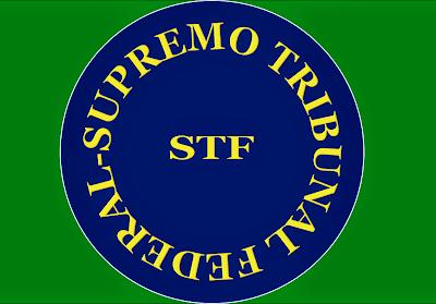 A imagem mostra a sigla (STF) Supremo Tribunal Federal em decisão surpreendente manda os governos pagarem em parcela única os precatórios aos seus donos legítimos.