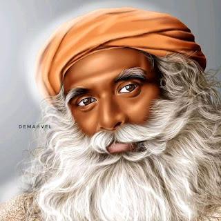 "Taraba Cartoonist Paints The Picture Of ""Sadghuru"" Indian Yogi And Author"