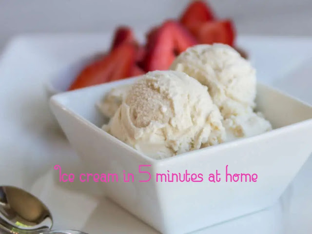 How to make ice cream in 5 minutes at home