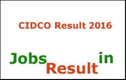 CIDCO Result 2016