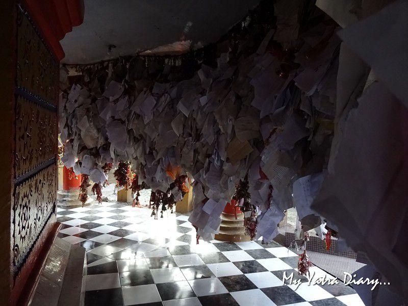Letter stacks at Chitai Golu Devta Temple Almora Uttarakhand