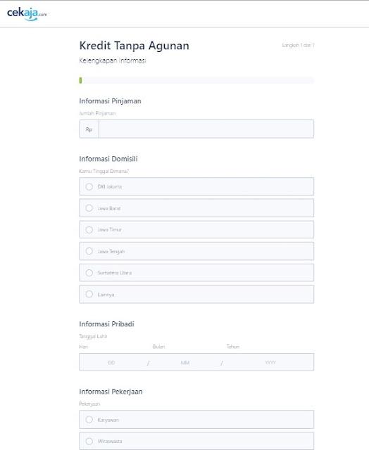 Form Pengisian KTA Online CekAja.com