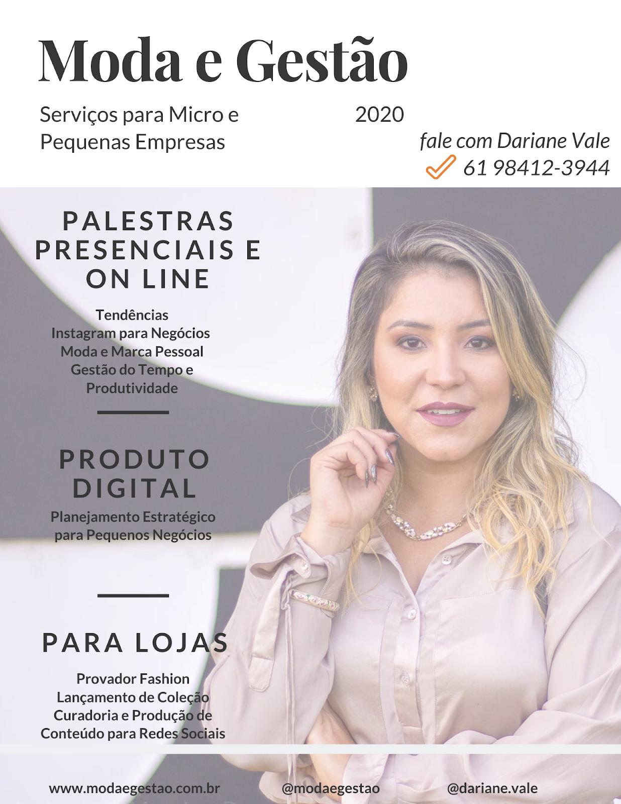 Serviços Moda e Gestão 2020