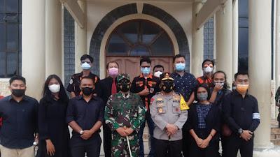 Kapolda Sumut dan Pangdam I/BB Pantau Ibadah Paskah di Gereja HKBP Resort Parapat