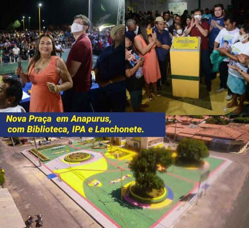 Anapurus transformada - Prefeitura inaugura praça, biblioteca e nova sede do IPA