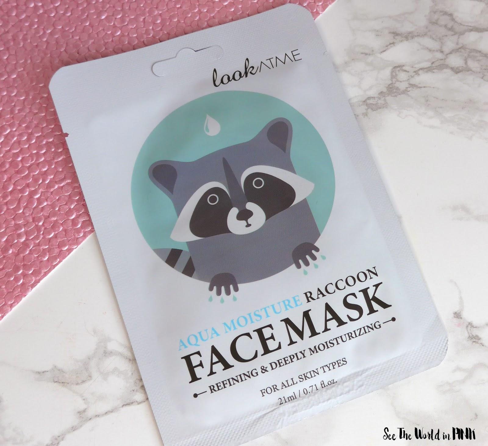 Skincare Sunday #CBBGetsSheetFaced LookAtMe Aqua Racoon Mask