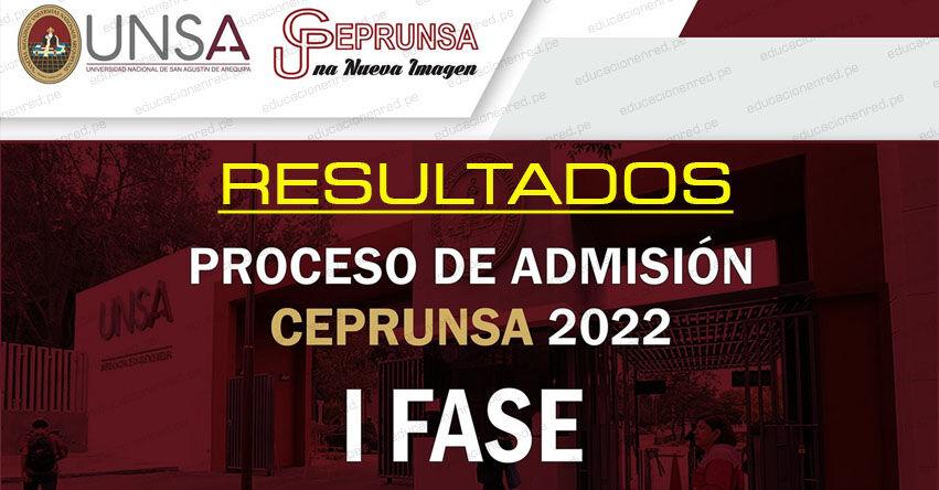 Resultados CEPRUNSA 2022 - I Fase (Domingo 29 Agosto 2021) Lista Aprobados - Examen de Conocimientos - Primera Evaluación - Examen de Admisión Virtual - Centro Pre Universitario Universidad Nacional de San Agustín de Arequipa - UNSA - www.unsa.edu.pe