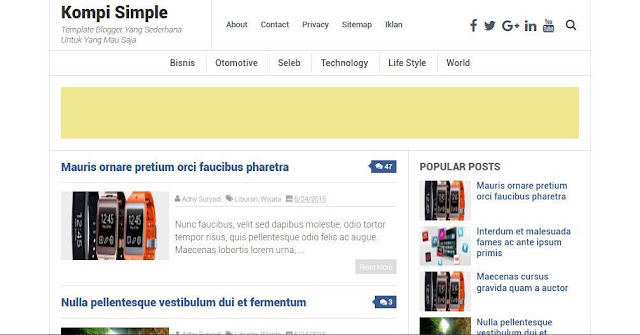 Kompi Simple - Template Blog Simple Sederhana Gratis