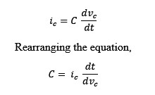 Equation of current through a capacitor