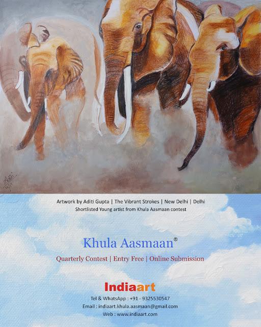 Khula Aasmaan shortlist : painting by Aditi Gupta, New Delhi