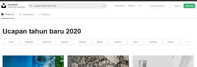ucapan tahun baru 2020 dari unsplash