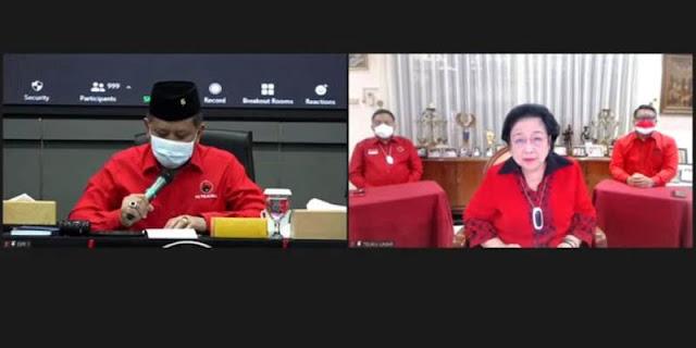 Megawati Muncul Virtual di Acara PDIP,  Hasto: Kita Bisa Lihat Ibu Mega Tersenyum Cantik