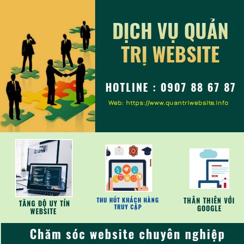 Dịch vụ quản trị nội dung website - Chăm sóc website chuyên nghiệp