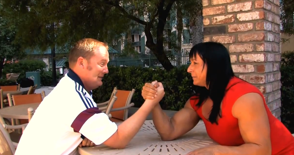 Mixed armwrestling Female Amazing Huge Body Vs Men