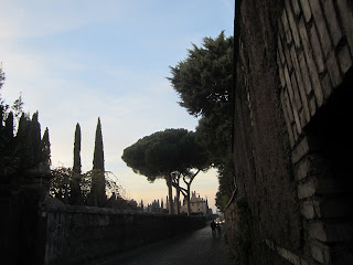photo of evening stroll on the appian way
