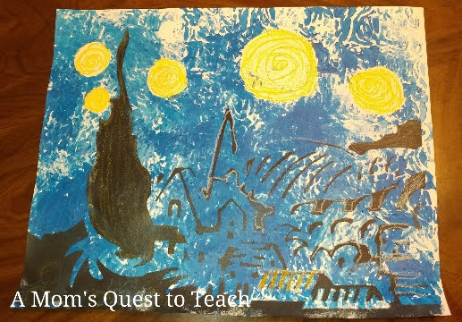 The Starry Night Painting by five-year-old