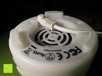 unten Kabelanschluss: Aiho 50ml USB Auto Aroma Diffuser Mini AD-P3 Aromatherapie Ätherische Öl Ultraschall Luftbefeuchter Humidifier