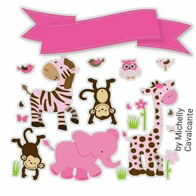 The Zoo for Girls: Free Printable Cake Toppers.