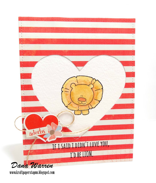 Dana Warren - Kraft Paper Stamps - Unity Stamp Co, Photo Play Paper
