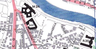 Via Bassano del Grappa mappa 1944