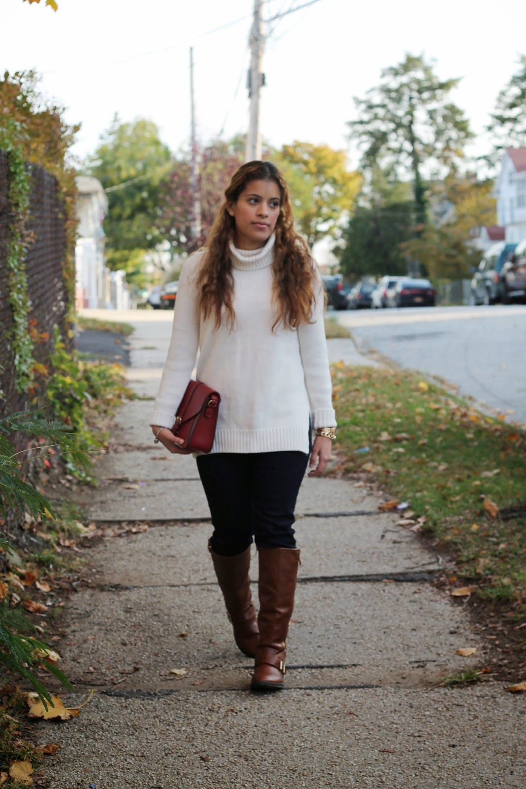 Turtleneck Sweater & Tall Boots