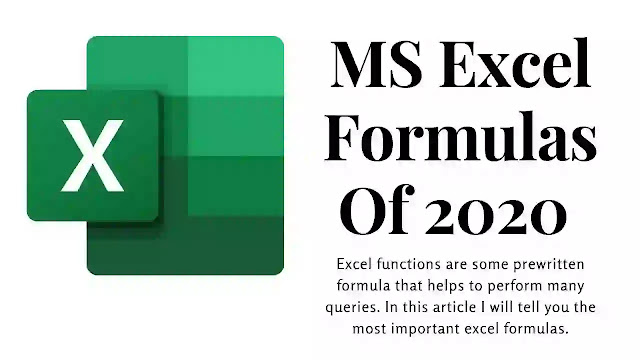 30+ Excel Functions You Should Know