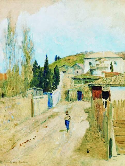 Исаак Ильич Левитан - Улица в Ялте. 1886