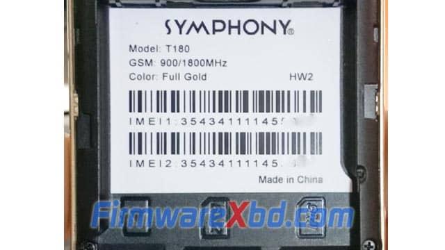 Symphony T180 HW2 Flash File