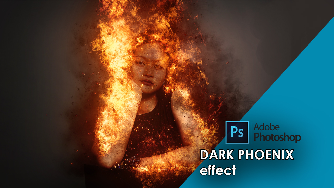 Dark phoenix effect Photoshop action tutorial and free Download