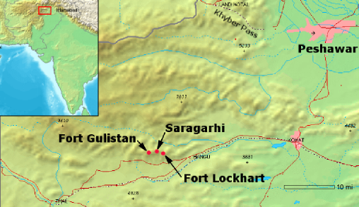 battle of Saragarhi map