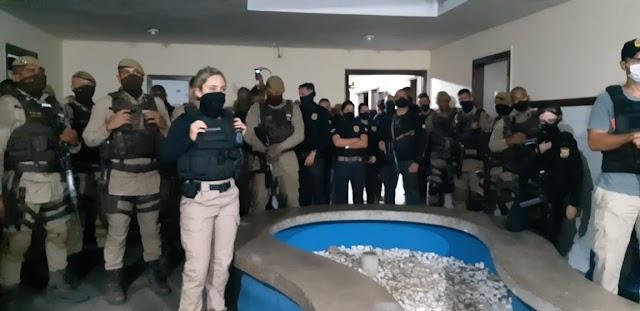 Operação com cerca de 86 policiais faz apreensão em Cabrália, três suspeitos de homicídios foram encaminhados para delegacia