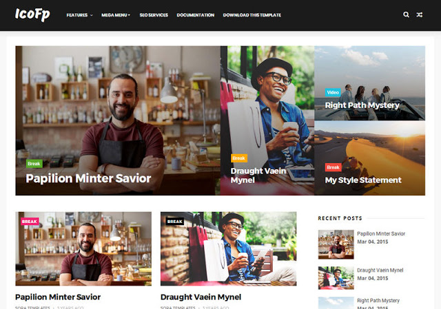 Icofp Responsive Blogger Template