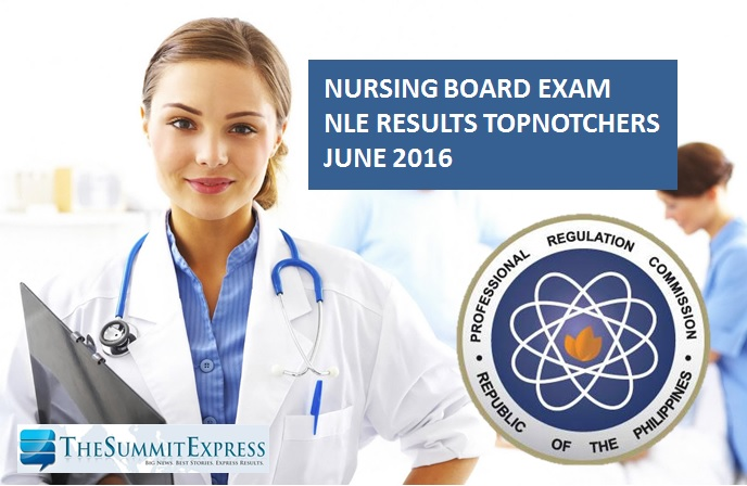 Top 10 Passers June 2016 NLE Nursing board exam