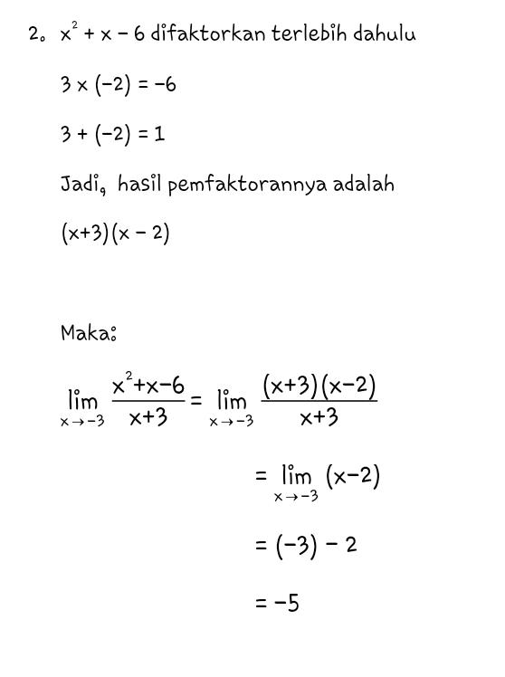 Contoh Soal Limit Fungsi : contoh, limit, fungsi, Assalamu'alaikum:, PEMBAHASAN, LIMIT, FUNGSI, Pemfaktoran