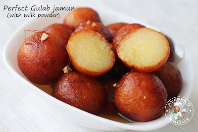 GULAB JAMUN quick easy perfect no fail jamun Indian dessert recipe