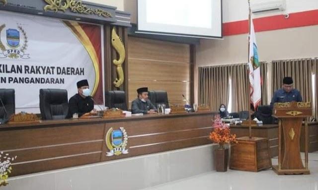 DPRD Kabupaten Pangandaran Selenggarakan Rapat Paripurna Terkait Membahas Pengumuman Usulan Pemberhentian Bupati dan Wakil Bupati Pangandaran Masa Jabatan 2016-2021