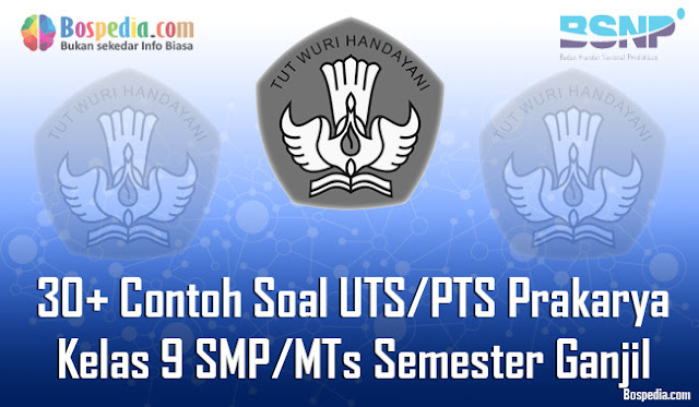 30+ Contoh Soal UTS/PTS Prakarya Kelas 9 SMP/MTs Semester Ganjil Terbaru