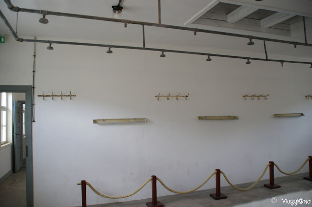 Le docce del campo di concentramento di Natzweiler-Struthof