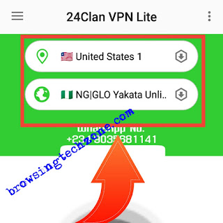 Glo unlimited free browsing cheat settings for 24clan VPN Lite