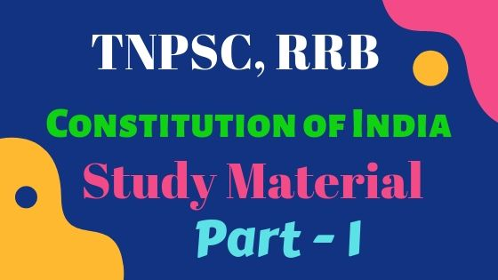 India Constitution Part 1 free Study Notes