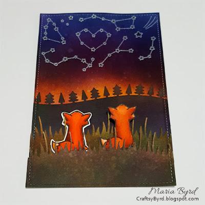 Lawn Fawn Wish Upon A Star Card by Maria Byrd | CrafstyByrd.blogspot.com