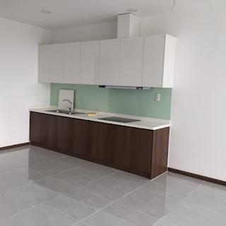 nhà bếp căn hộ 1 phòng ngủ calla garden kdc greenlife 13c