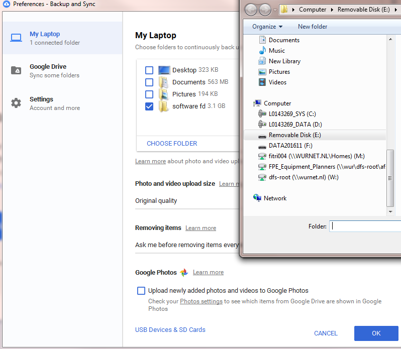 how to back up and sync with google drive